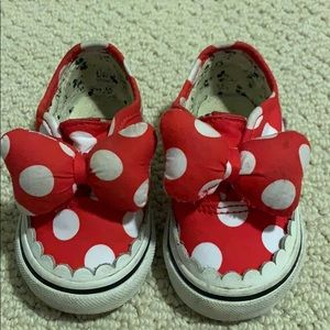 Minnie Mouse Vans - toddler size 4